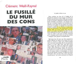"""Couverture du livre de Clément Weill-Raynal, le """"Mur des cons"""""""