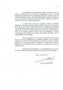Courrier François Hollande - Réponse présidentielle concernant les DRAC (2)