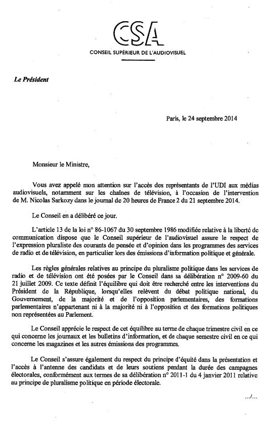 Récmation d'Yves Jégo contre France  2