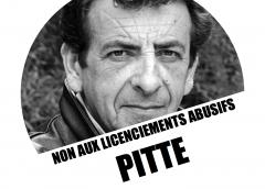 Journée nationale de grève mercredi 4 avril dès 00h01.  Non au licenciement de Jean-Marc Pitte !