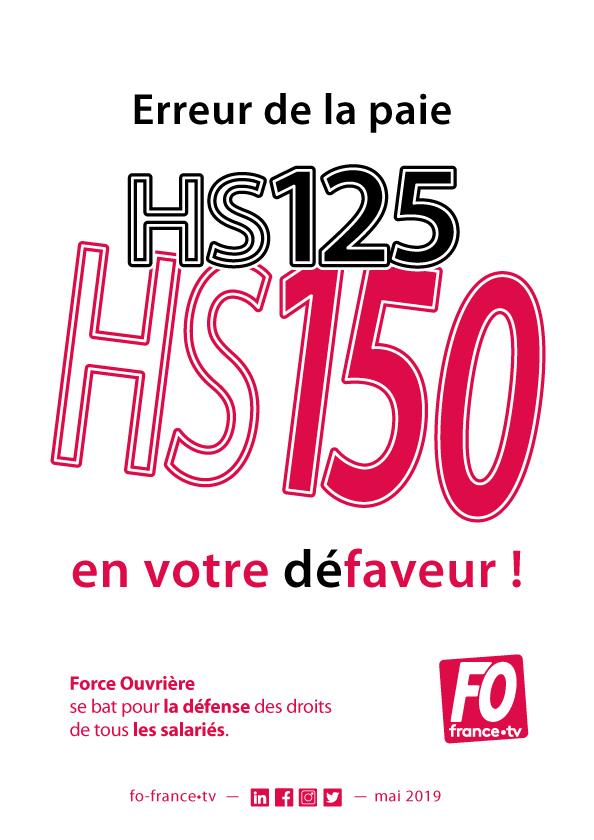 affiche fofrancetv : erreur sur les HS150
