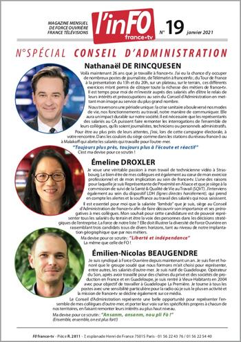 PDF 4Mo pour impression de l'inFO numéro 19 spécial Conseil d'Administration