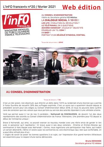 L'inFO numéro 20 février 2021, en ligne